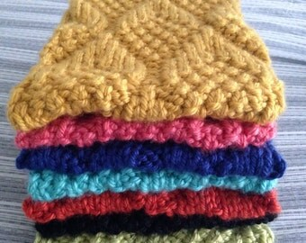 Chunky hand knit cowl LOTS OF COLORS