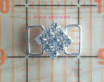 1 inch Rhinestone Bikini Connector (Crystal or Crystal AB)