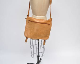 vintage leather bag satchel laptop case briefcase messenger tote
