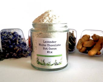 Lavender White Chocolate Drinking Chocolate Hot Cocoa Mix Foodie Gift