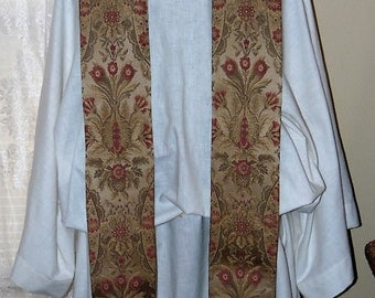 Green Tapestry  Clergy Stole  Traditional Priest Vestment Anglican Catholic Lutheran Methodist Episcopalian