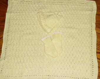 Precious Yellow Preemie Baby Layette Set