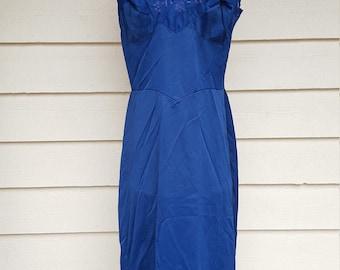 Vintage 1960s Nylon Blue Slip by Laros