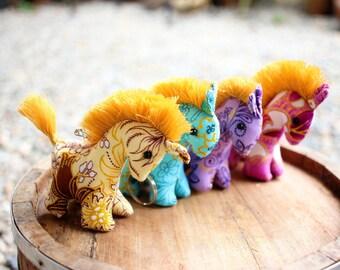 4 Horse keychains, Horse keychain, Animal keychain, Stuffed horse, Fabric horse, Key ring, Gift