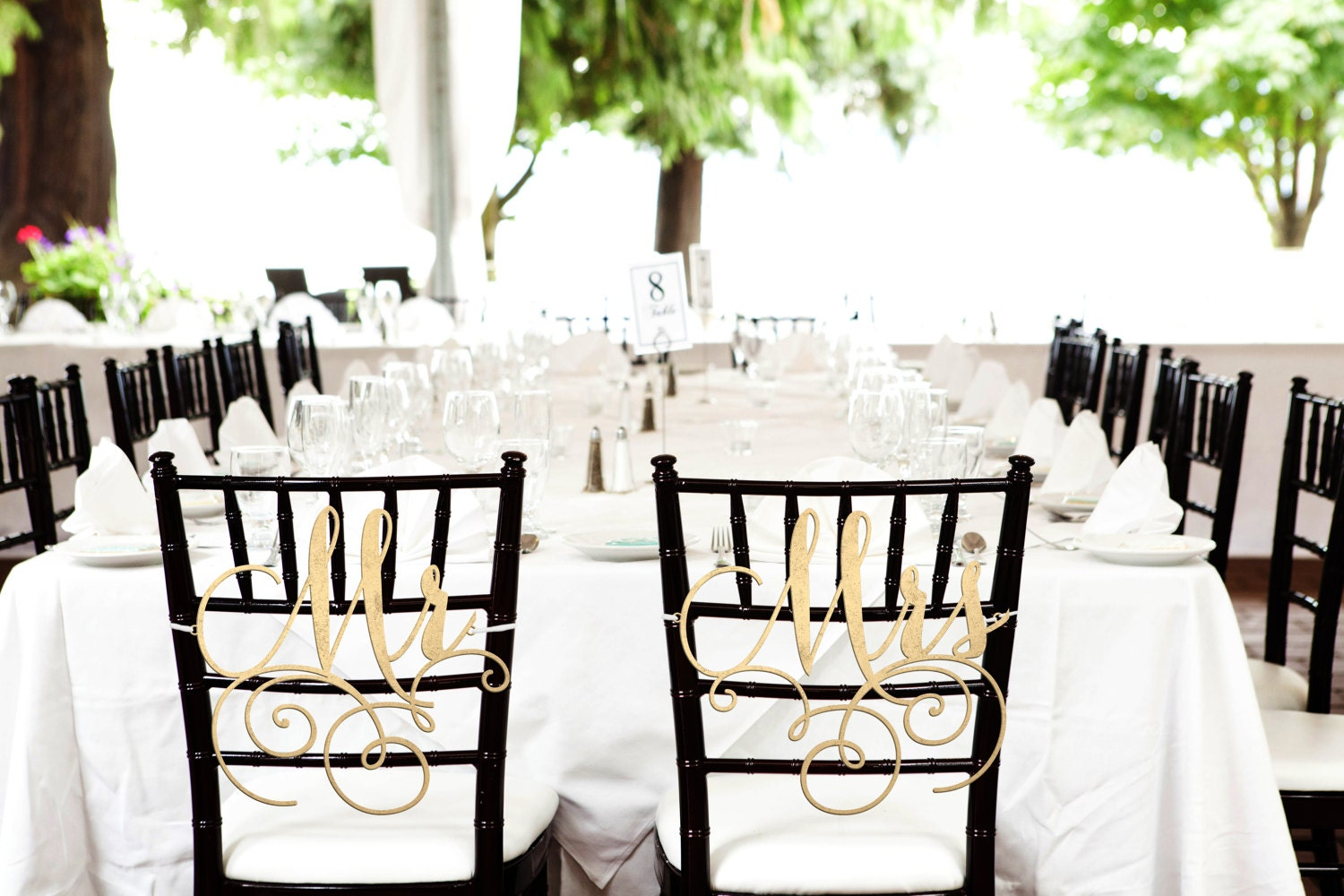 Wedding Chair Signs, Mr and Mrs Sign, Wedding Signs, Wedding Chair ...