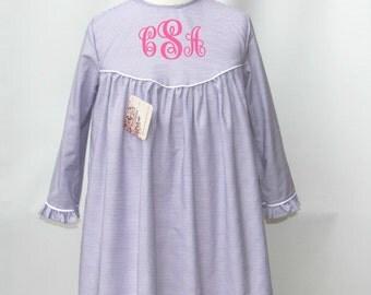 monogrammed dresses, Birthday Dress, Little Girl dresses, Monogram Yoke Dress, personalized Yoke dresses, Winter Dress, FREE Monogram 3T,4T