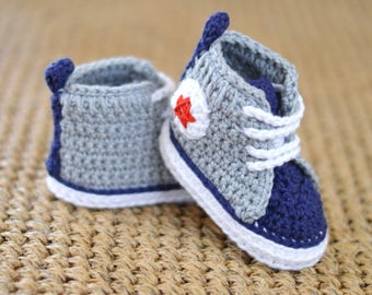 NEW! Crochet Pattern Baby Sneakers Easy Baby Bootie Pattern Photo Tutorial Improving Beginner PDF Instant Download