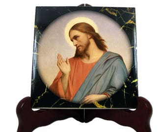 Christian gifts - Jesus Christ - Christian icon on tile - a perfect religious gift idea - christian art - christian decor - Jesus icon