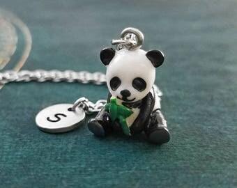 Panda Necklace SMALL Panda Bear Necklace Chinese Jewelry Asian Jewelry Panda Charm Necklace Animal Pendant Necklace Personalized Necklace