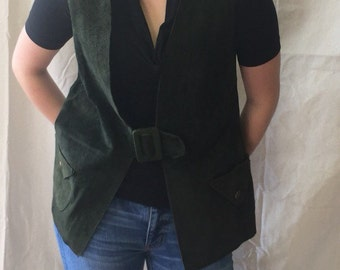 Vintage Green Suede Vest