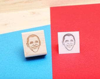 Barack Obama - Rubber Stamp Portrait