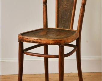 vintage bentwood chair Kohn like Thonet made in Austria antique solid wood