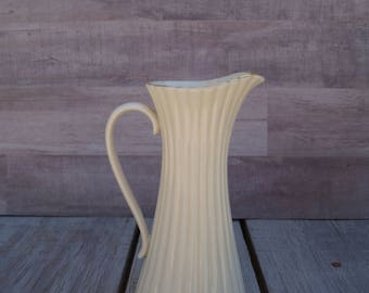 Vintage Cream Lenox Pitcher - Made in the USA - 1960's