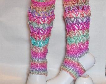yoga socks pilates socks dance socks gradient color leg warmer Namaste