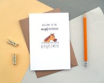 New Home Card | Welcome to the NEIGHbourhood | Greetings Card