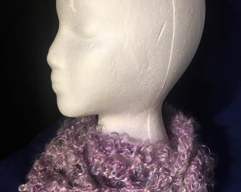Hand Dyed, Spun & Crocheted Infinity Scarf