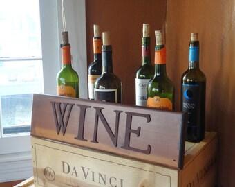 Beautiful Reclaimed Wood Wine Sign
