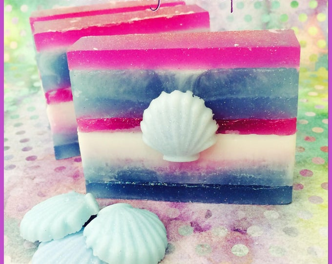 Mermaid Kisses Scented Shimmering Shea Butter & Aloe Sea Salt Soap
