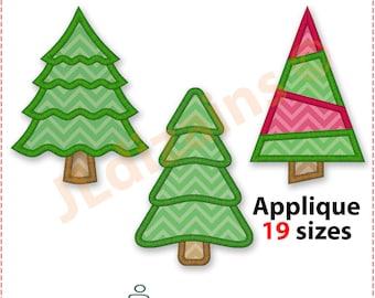 christmas tree applique design set christmas tree embroidery applique design christmas tree christmas - Christmas Tree Applique