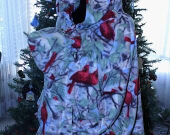 baby wearing coat - baby wearing jacket - baby wearing hoodie -baby shower gift - cardinals fleece hoodie - baby carrier accessories