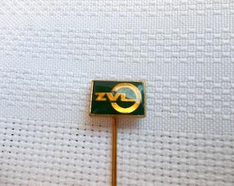 ZVL badge, ZVL pin, ZVL Ball BEarings Company, Slovakia pin, Czechoslovakia