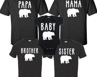 Bear Family Matching Pajamas For The Whole Family Mama Bear