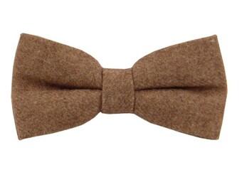 Dark Brown Wool Bowties.Wedding Wool Bowtie.Mens Brown Bowties.