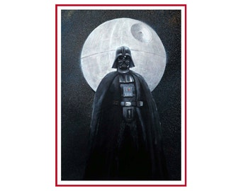 FREE SHIPPING, Darth Vader on canvas, star wars art, painting original, star wars painting, star wars, Darth Vader art, Darth Vader painting