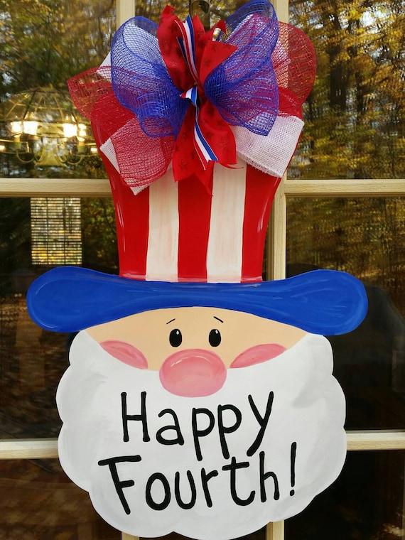 Items Similar To Uncle Sam Door Hanger 4 Of July Door