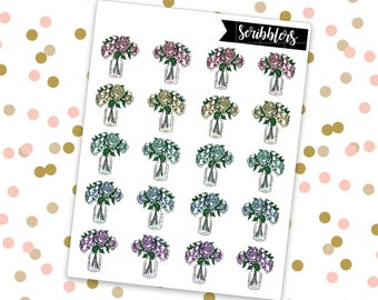 Flowers // Limited Edition [24HR ONLY] (Glossy Planner Stickers)