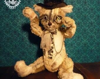 Isidor, handmade cat plush, unique piece