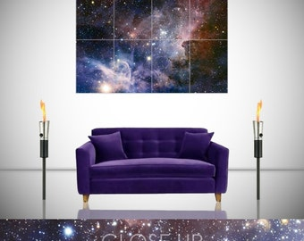 Space Carina Nebula Astronomy Spectacular Giant Poster in 8 or 4 Pieces Wall Art Print