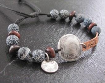 Mens Beaded Bracelet, Mens Cuff Bracelet, Men's Bracelet, Men's Jewelry Bracelet, Bracelet For Men, Men's Gift, Husband Gift