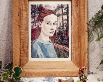 The forest. Print _ illustration _ printing digital _ art _ drawing