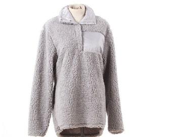 Grey Sherpa Pullover IN STOCK