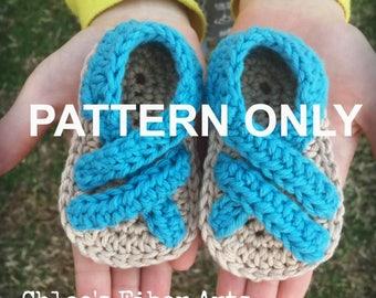 Trail Trekkers Sandal Crochet Pattern, crochet sandal pattern, infant sandal pattern, chaco style sandal pattern