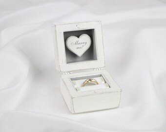 Engagement Ring Box, Proposal Ring Box, Wooden ring box, Custom ring box