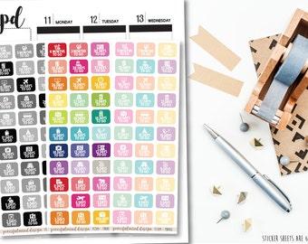 Travel Countdown Stickers - Planner Stickers - FS109