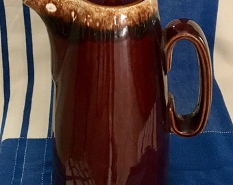 Hull Brown Drip Tall Coffee Pot With Lid