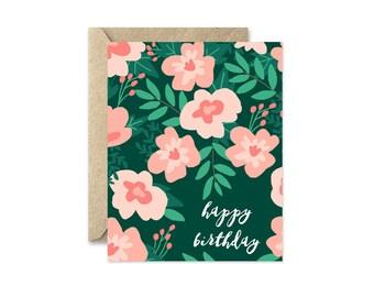 Coral Birthday - Greeting Card