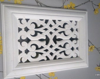 """Victorian Air Vent cover 8 X 11.5"""" version fret work"""