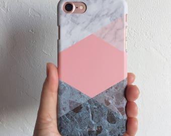 GEOMETRIC phone case, iPhone 7 case, iPhone 6 case, iPhone 6S case, iPhone 5S case, iPhone SE case, Huawei P9 Lite case, funda movil marmol