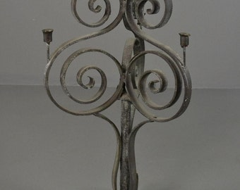 Scrolled Wrought Iron Large Candelabra