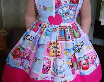 Handmade-American Girl Doll Dresses-18 Inches-Shopkins and Pink.