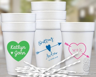 Personalized Cups | Monogram Cups | Wedding Party Cups