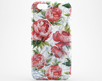 Flower iPhone 7 Case Roses iPhone 6 Cover Samsung Galaxy Floral Case iPhone 6 Plus Flower Xperia Case iPhone 7 Plus iPhone 5 Case iPhone SE