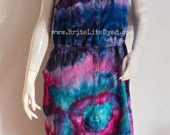 Tie Dye Dress-Women's LARGE-Women's Dress-Tiedye Dress-Hippie-Women's Clothing-Tye Dye-Tiedye-Tie Dyed-Festival Dress-Hippy Dress