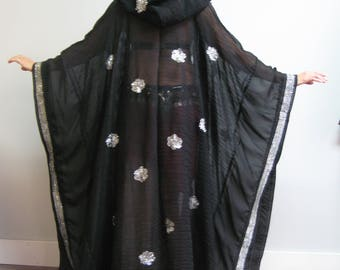 Desert Robe - Black and Silver