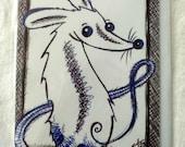 Print Greeting Card with envelope, Cute Whimsical, Cutesy, Pet Rat Fancy Rat, Nursery Art, Kawaii, Children's Art, Cute Pets
