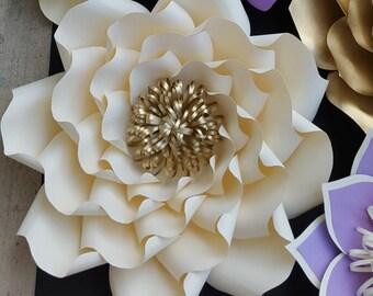 Paper flower template, paper flower pattern, DIY paper flower, large paper flower pattern, paper flower tutorial, flower backdrop DIY,